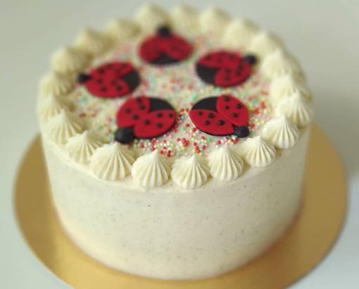 Narodeninová torta - vanilka - biela čoko